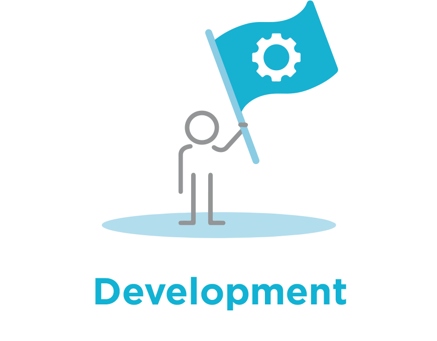 Image of stick figure representing used for Development