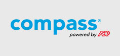 Compass Powered by ADP logo.