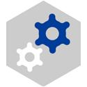 Icon design representing implementation.
