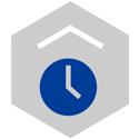Icon design representing time.