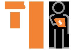Icon Representing Financial Services Organization Statistics.