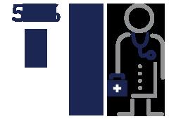 Icon Representing Health Care Organization Statistics.