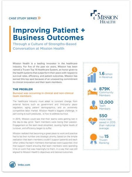 Image of Mission Health Case Study PDF.
