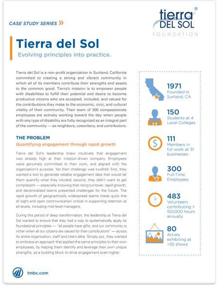 Image of Tierra del Sol Case Study PDF.